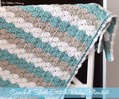 10 Free Crochet Baby Blanket Patterns by The Lavender Chair