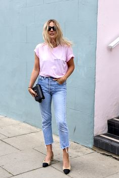 Pink and jeans