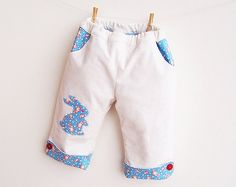 Tender BUNNY Baby Boy Girl Pants pattern sewing PDF download, Easy simple, children toddler babies, newborn 3 6 9 12 18 months 1 2 years