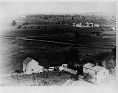 Picture taken in 1889 looking northeast from Gettysburg towards Barlow's/Blocher's Knoll covering the area in which the Union 11th Corps opposed Ewell's Confederate Corps.