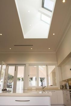 VELUX Skylights Perth - Clearview Skylights - Clearview Skylights - Home Skylight Shade, Skylight Design, Kitchen Decor, Kitchen Design, Kitchen Ideas, England Houses, Roof Ceiling, Roof Window, Dream House Interior