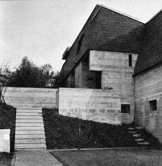 """fuckyeahbrutalism: """" House at Sonneburg, Zürich, Switzerland, 1962 (Ernst Gisel) """" Architecture Design, Concrete, Mid Century, Stairs, Building, Post, Travel, Switzerland, Tumblr"""