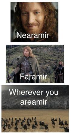nearamirfaramir:  runwiththedoctordancetothemusic:  Nearamir, Faramir, whereveryouareamir…  i feel like it's my civic duty to reblog this wh...