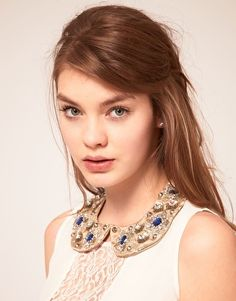 Shop the latest ASOS Embellished Stone Floral Collar trends with ASOS! Hot Outfits, Polished Look, Fall Trends, Collar Necklace, Spring Summer Fashion, Beautiful People, Beautiful Things, Hair Inspiration, Cool Hairstyles