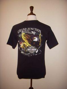 HARLEY DAVIDSON Grand Junction COLORADO Black T SHIRT Men's M  #HarleyDavidson #GraphicTee