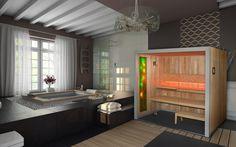 Sauna Comfort Line z panelem relaksacyjnym Fantazja Bathtub, Design, Standing Bath, Bathtubs, Bath Tube, Bath Tub, Tub, Bath