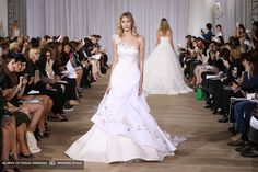 ines di santo asymetrical wedding dress with tulle flower accents fall 2016 collection
