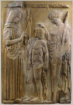 #Demeter and #Triptolemos - Great Eleusis Frieze, Eleusis Museum, Greece, late 5th c. BCE