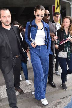 Bella Hadid is seen arriving at Nice Airport during the 71st annual Cannes Film Festival at Nice Airport on May 9 2018 in Nice France
