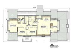 Ranch Style House Plan - 3 Beds 2 Baths 1900 Sq/Ft Plan #916-1 Floor Plan - Main Floor Plan - Houseplans.com