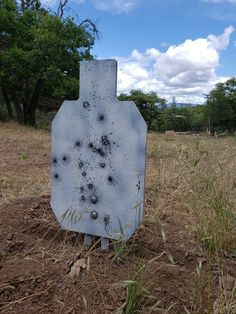 Rogue Shooting Targets - AR550 Steel Silhouette target with the Stab N Shoot static steel target spikes, fast and easy target set up durable steel targets handle 5.56 with ease