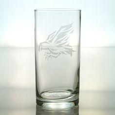 Bird of Prey Design Whiskey / Rocks Glass 2 by GlassIslandDesigns, $17.00