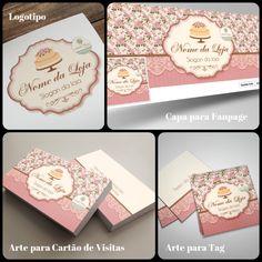 Logotipo / Identidade Visual para Confeitaria. Estilo romântico e vintage. Sucesso para qualquer marca!! Veja em nosso site:  http://www.ateliefloradg.com.br/