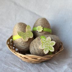 Twine Wrapped Easter Eggs by TheRusticTrunk. These are perfect for any Easter or spring centerpiece, inside an Easter basket or even for your next egg hunt. We love them as spring photo props!Twine Wrapped Egg Jute Easter Egg Spring Bird by TheRusticTrunk