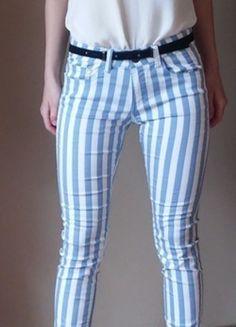 Kup mój przedmiot na #vintedpl http://www.vinted.pl/damska-odziez/dzinsy/13626285-nowe-spodnie-w-paski-new-yorker-bialo-niebieskie-36