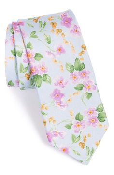 Free shipping and returns on Ted Baker London Floral Print Silk Tie at Nordstrom.com. A watercolor-inspired floral print brings spring-ready charm to an Italian-silk tie designed for a distinctive look.