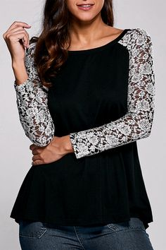 $11.23 Lace Sleeve Blouse