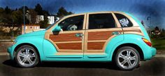 tiki pt cruiser aka the most beautiful thing ever made, also the car that made me love pt cruisers... someday mine will be this awesome : )