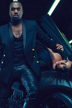 Kim Kardashian is just intent on breaking the internet! The Keeping Up With The Kardashians star has tweeted a picture of her and her beloved, Kanye West, in their first ever designer ad campaign for Balmain. Find out more on GLAMOUR.COM UK