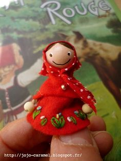Little Red Riding Hood Clothespin Doll By Jojo Caramel
