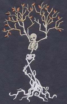 Skeleton Tree | Urban Threads: Unique and Awesome Embroidery Designs