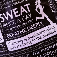 Creativity is maximized when you are living in the moment...