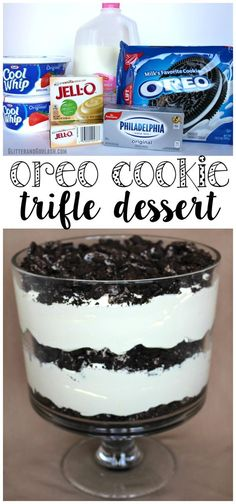 This oreo cookie trifle dessert recipe was amazing - gone within the first 10 minutes of the party!