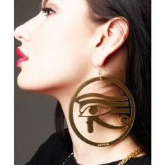 Eye of Horus Egyptian hoop earring: