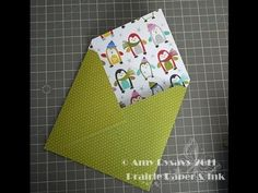Making an Envelope for a Square Card