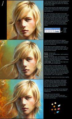 PS - quick hair tutorial by ceruleanvii on DeviantArt