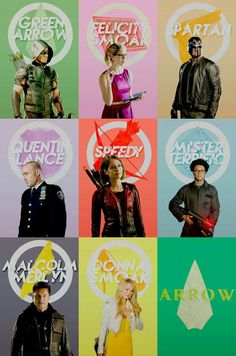 Arrow CW team + emblems