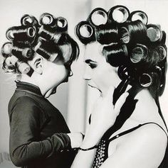 """Fab photo idea to take this with your daughter and hang it in your bathroom. Hang a dad/son photo of them """"shaving"""" beside it."""
