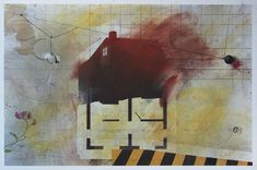 Like a House On Fire 21st Century, Fire, House, Painting, Home, Haus, Painting Art, Paint, Draw