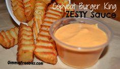 CopyCat Burger King Zesty Sauce!  Just 5 ingredients!! @GimmieFreebies_Recipes