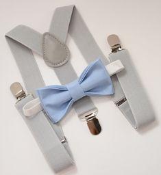 Wedding Page Boys, Baby Wedding, Bow Tie Wedding, Wedding Grey, Wedding Ideas, Bowtie And Suspenders, Suspenders For Kids, Baby Set, Light Blue Bow Tie