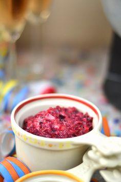 Cranberry-Salsa - Silvester Fondue Abend mit Dips, Kartoffelsalat, Pinwheel Pops & guter Musik   Das Knusperstübchen Dips, Pinwheels, New Years Eve, Salsa, Raspberry, Fruit, Party, Blog, Fondue Recipes