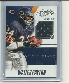 SOLD - WALTER PAYTON Game Used Jersey Card #22/149 Chicago Bears #ChicagoBears