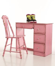 Maybe she won't get all her homework done, but at least she'll love sitting at her pink desk.