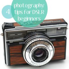 4 Essential Tips for DSLR Photography Beginners - Get to know your camera!