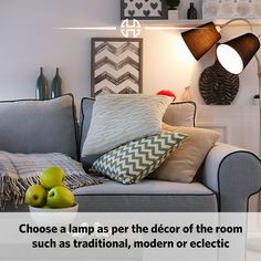 Did you know the rule of thumb when selecting a lamp for your room?