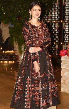 Photos: Bachchans, Khans, other stars at Ambanis' Ganpati bash Dress Indian Style, Indian Dresses, Pakistani Outfits, Indian Outfits, Indian Designer Outfits, Designer Dresses, Indian Wedding Gowns, Anarkali Dress, Indian Attire