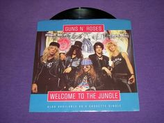 """Guns N Roses Welcome To The Jungle - Mr. Brownstone - 7"""" Vinyl 45 Record & Picture Sleeve"""