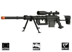 Beta Project Full Metal M200 Spring Bolt Action Sniper Rifle Airsoft Gun ( BLK ): i want this sooo bad!
