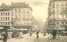 Parvis de Saint-Gilles et Chaussée de Waterloo. Jour de marché.