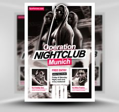 Operation Nightclub Free Flyer Template #PSD #Photoshop #Flyer #Template #FlyerHeroes