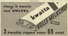 Jeugdsentiment: Vroeger kocht je 3 dikke chocoladerepen voor 55 cent... Lees verhaal: Kwatta-soldaatjes | Het Geheugen van Tilburg