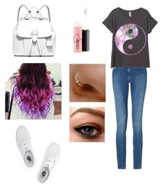 """Ying-Yang"" by aaliyah-rivera on Polyvore featuring Calvin Klein, Vans, MICHAEL Michael Kors and MAC Cosmetics"
