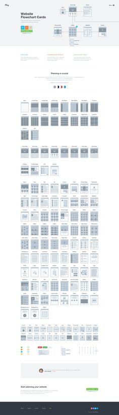 Realpixels - website flowchart cards
