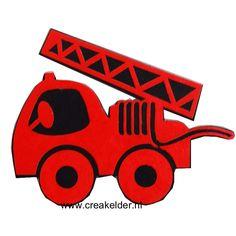 Aan de kant...Hier komt de brandweerauto...  Deze brandweerauto is helemaal leuk…