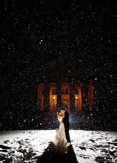 Snowing / Winter Wedding ©️️️️️️️️ Matt Ramos Photography 2012 (All Rights Reserved) wedding pictures 21 Stunning Winter Wedding Photos We Can't Stop Staring At Snow Wedding, Rainy Wedding, Winter Wonderland Wedding, Wedding Bells, Dream Wedding, Wedding Day, Winter Church Wedding, Winter Bride, Luxury Wedding